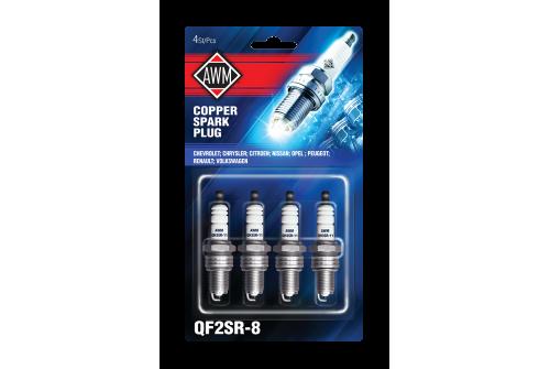QF2SR-8AWM свечи зажигания (медь, комплект 4 шт.)