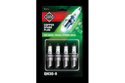 QH3О-8 AWM свечи зажигания искровые (медь, комплект 4 шт)