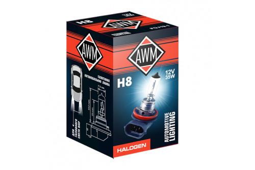 Лампа галогеновая AWM H8 12V 35W (PGJ19-1)