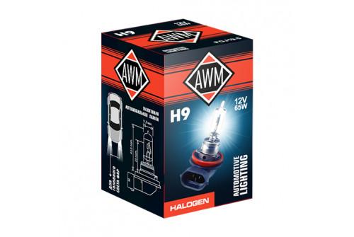 Лампа галогеновая AWM H9 12V 65W (PGJ19-5)