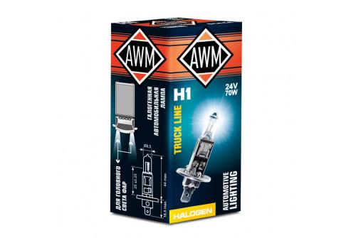 Лампа галогеновая AWM H1 24V 70W (P14.5S)