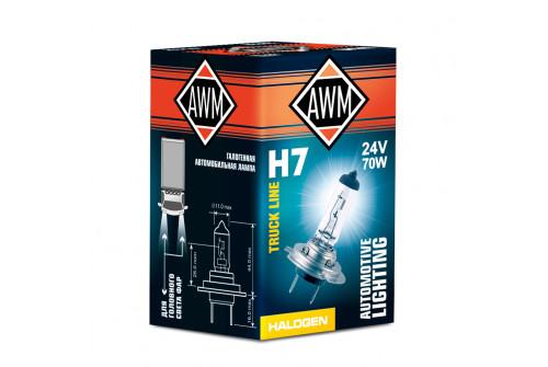 Лампа галогеновая AWM H7 24V 70W (PX26D)