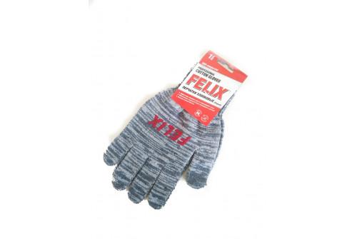 Перчатки хлопковые Felix c пвх-покрытием (серые)